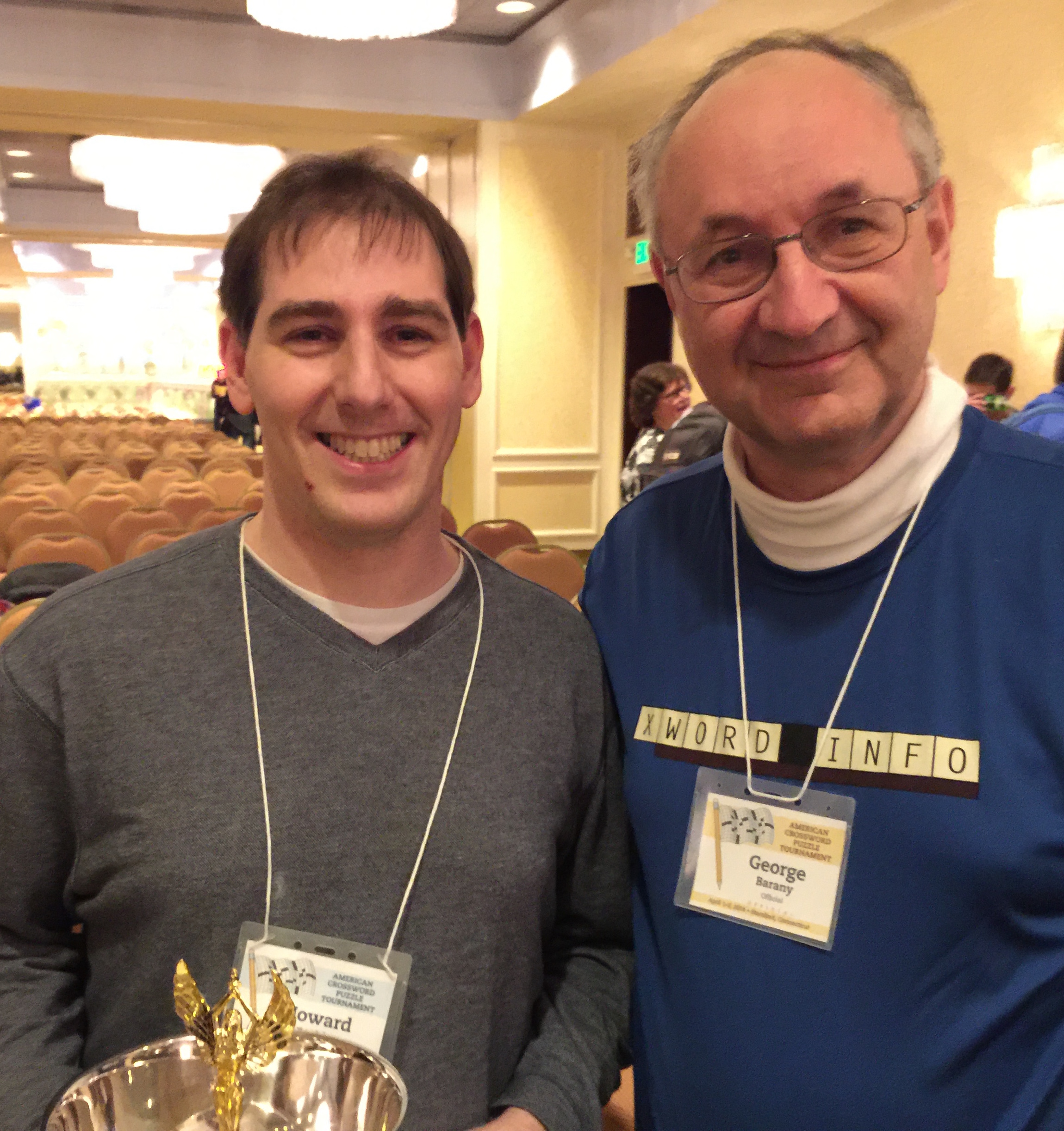 ... taken April 2016 in Stamford, Connecticut)is a veteran puzzle solver  and multiyear attendee of the ACPT, where he has acted in the role of