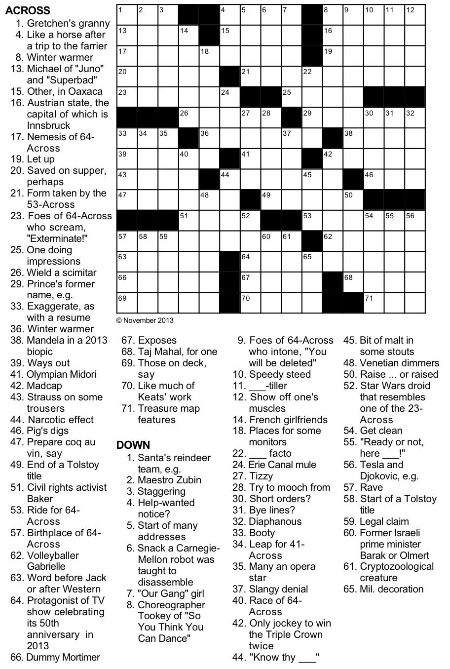 It's just a photo of Canny Free Printable Newspaper Crosswords