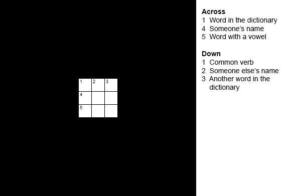 Perfect Square Crossword Puzzle