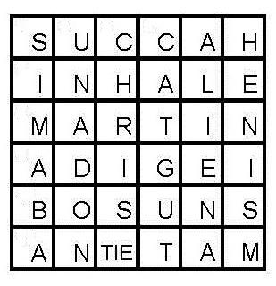 Perfect square crossword puzzle urtaz Gallery